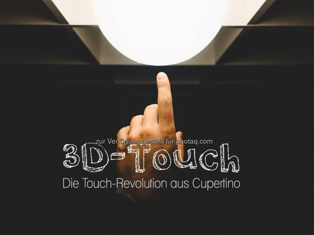 """3D-Touch – die Touch-Revolution aus Cupertino : """"Keep it simple"""" stand im Vordergrund bei der Entwicklung :  Denn 3D-Touch schafft es, die Bedienung des iPhones noch einfacher und effizienter zu gestalten : Der Bildschirm wurde mit einer zusätzlichen, drucksensitiven Schicht ausgestattet, die nun auch die Tippstärke wahrnimmt : Fotocredit: CC0 Public Domain, © Aussendung (16.02.2016)"""