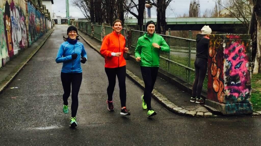 Mit Karin Artner, Esther Kratzsch und Günther Artner laufen (23.02.2016)