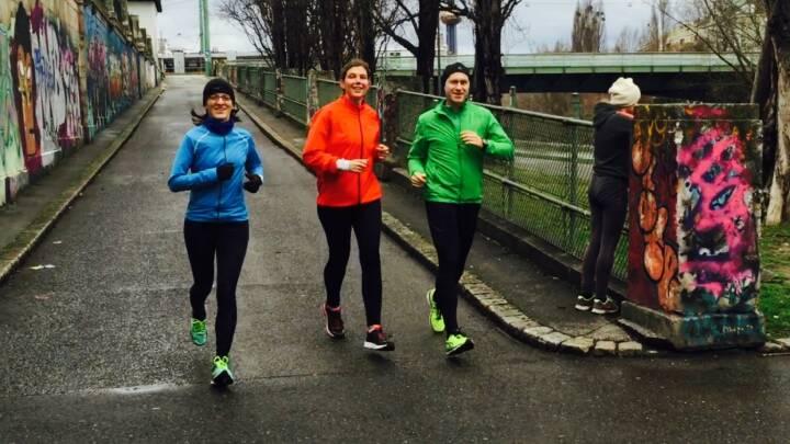 Mit Karin Artner, Esther Kratzsch und Günther Artner laufen