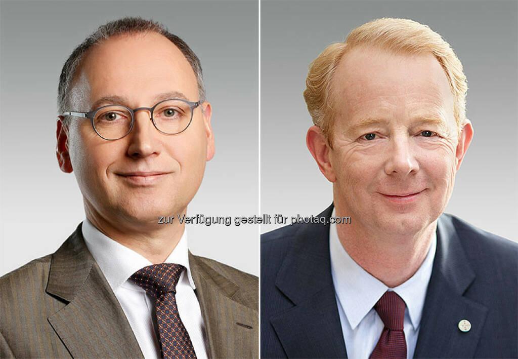 Werner Baumann, Marijn Dekkers : Werner Baumann folgt Dr. Marijn Dekkers als Vorstandsvorsitzender der Bayer AG : Fotocredit: Bayer AG, © Aussender (24.02.2016)