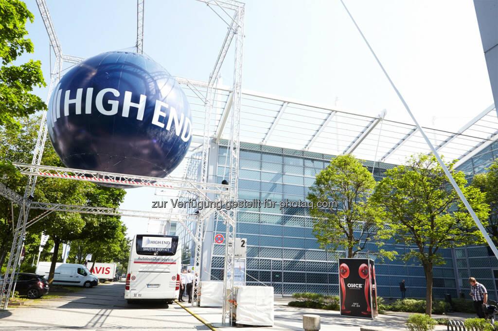 """MOC München : Die weltweit führende Messe für hochwertige Unterhaltungselektronik """"High End 2016"""" findet vom 05. bis 08. Mai im MOC München statt : Fotocredit: """"obs/High End Society Service GmbH"""" (25.02.2016)"""