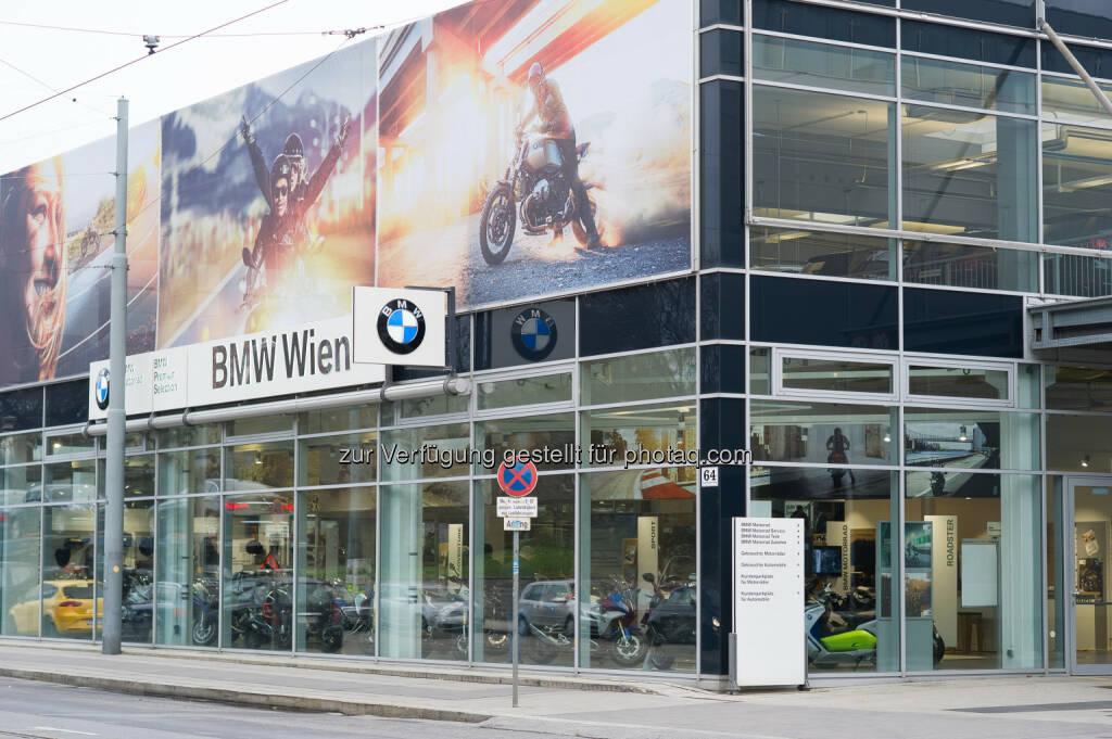 BMW Wien Motorradzentrum : Alles rund ums Motorrad aus einer Hand : Offizielle Eröffnung und Saisonstart-Event am 12. März 2016 mit allen aktuellen Modellen : Fotocredit: BMW Wien, © Aussendung (25.02.2016)
