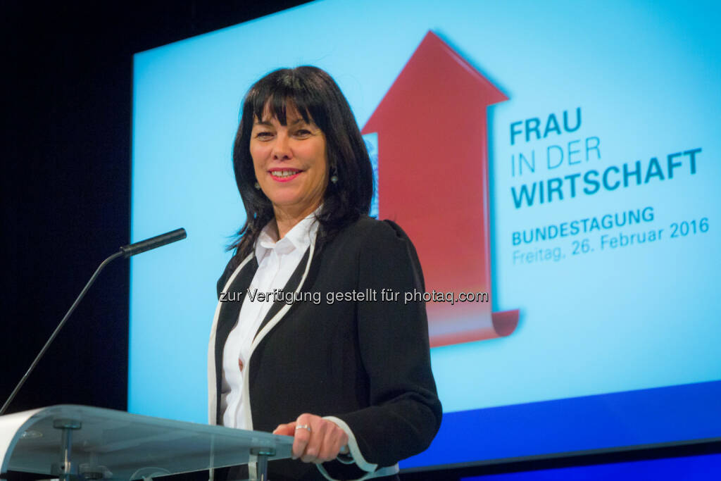 Martha Schultz zur Bundesvorsitzenden von Frau in der Wirtschaft im Wirtschaftsbund gewählt : Fotocredit: Foto Weinwurm, © Aussender (26.02.2016)