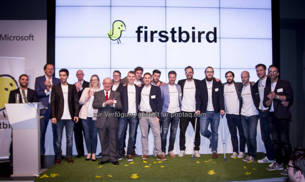 Launch-Event Firstbird : Firstbird launcht weltweit erstes kostenfreies Mitarbeiterempfehlungsportal : Fotocredit: firstbird GmbH, © Aussender (02.03.2016)