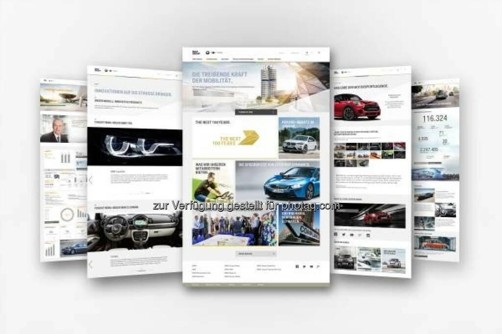 BMW Group erneuert Onlineauftritt www.bmwgroup.com : Überarbeitetes Design mit neuer Bildsprache und zusätzlicher Funktionalität : Optimiert für die Anforderungen einer modernen und zukunftsgerichteten Online-Kommunikation : © BMW Group, © Aussender (04.03.2016)