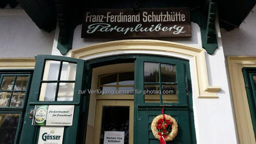 Franz Ferdinand Hütte, Parapluiberg, © Michael Lagler (05.03.2016)