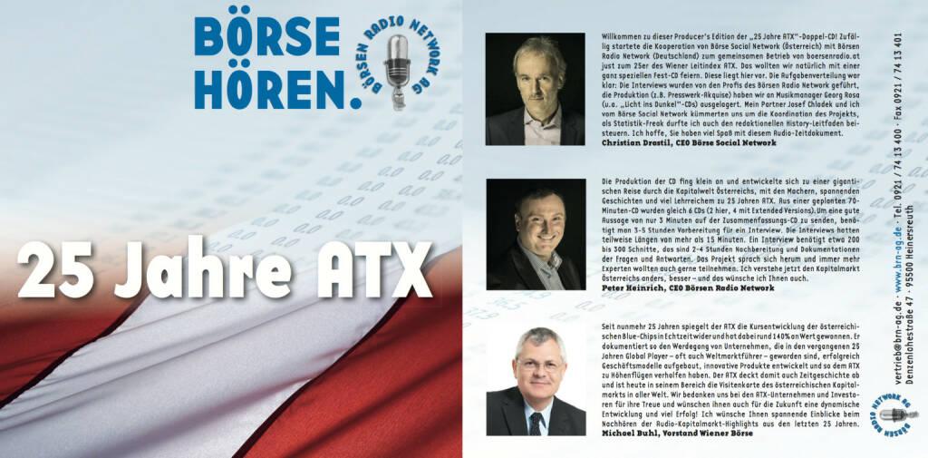 Sonderedition 25 Jahre ATX für das Börsen Radio Network (07.03.2016)