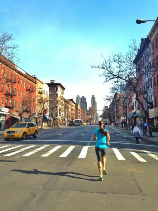 Monika Kalbacher: Morning Run NYC bei frühlingshaften 20 Grad
