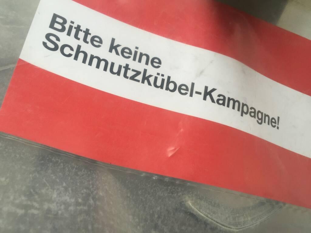 rot-weiss-rot Bitte keine Schmutzkübel-Kampagne, © diverse photaq (13.03.2016)