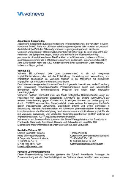 Valneva erhält $42 Mio. Auftrag der US-Regierung , Seite 2/3, komplettes Dokument unter http://boerse-social.com/static/uploads/file_790_valneva_erhält_42_mio_auftrag_der_us-regierung.pdf (16.03.2016)