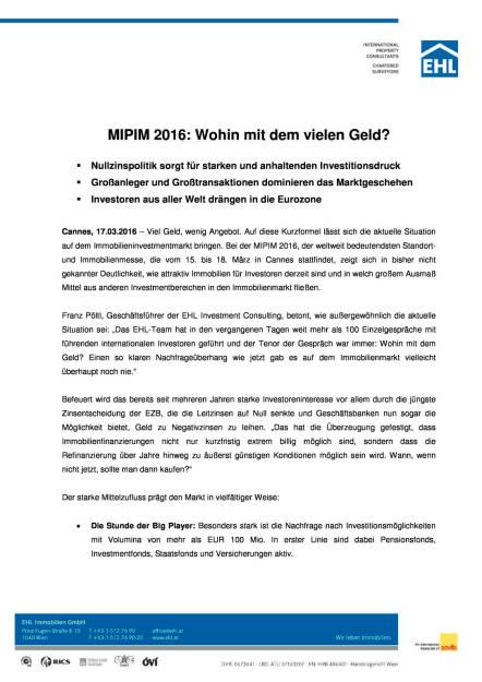 EHL Immobilien Presseaussendung zur MIPIM in Cannes, Seite 1/3, komplettes Dokument unter http://boerse-social.com/static/uploads/file_800_ehl_immobilien_presseaussendung_zur_mipim_in_cannes.pdf (17.03.2016)