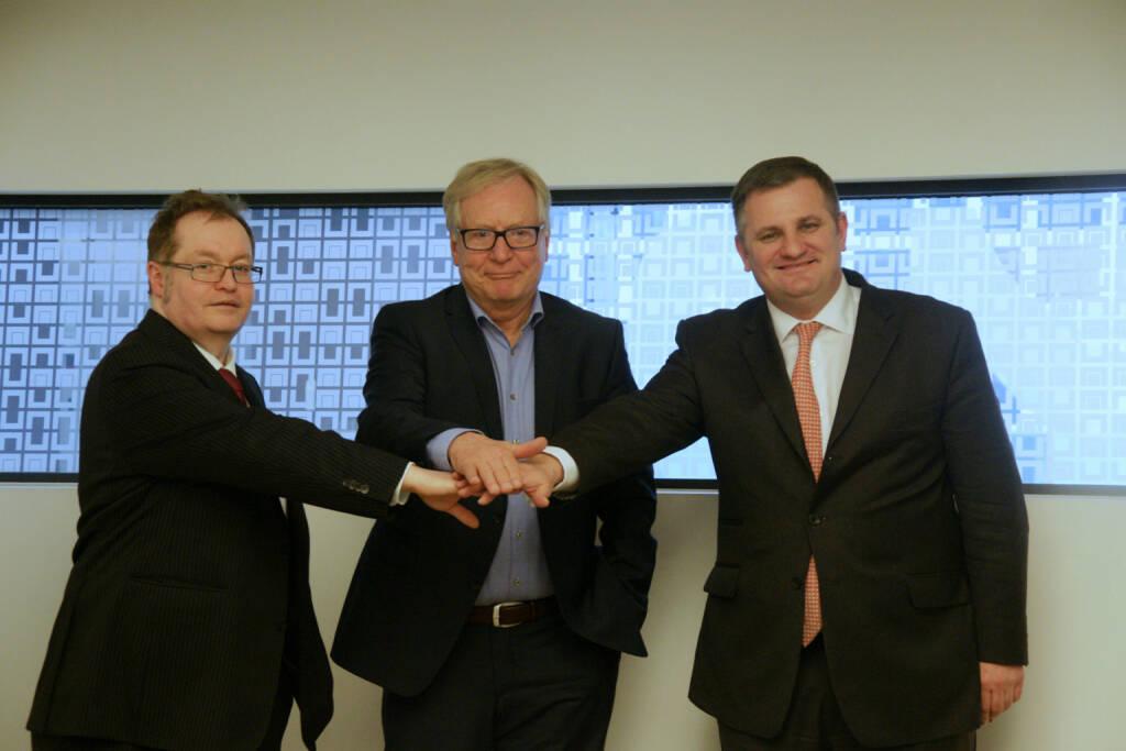 Gregor Rosinger, Dietrich Bock und Eduard Berger bereiten den Börsengang der Dr. Bock Industries vor © Rosinger Group, © Aussender (20.03.2016)