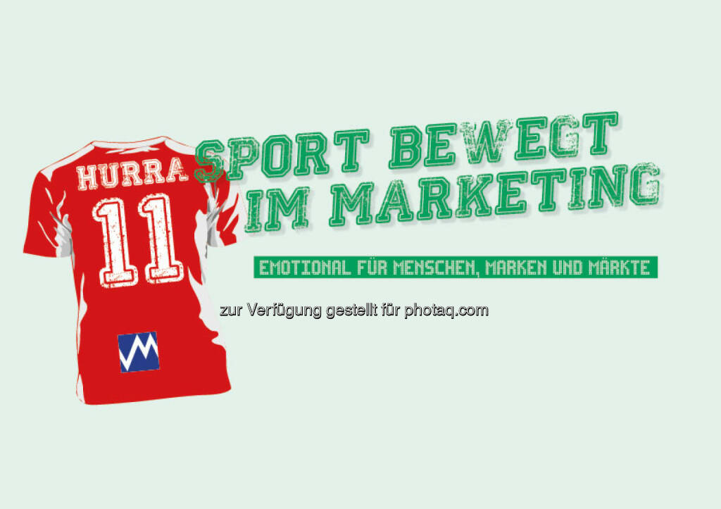 """Sport bewegt im Marketing"" beim 11. Österreichischen Marketing Tag am 7.Point of Marketing am 11. Mai 2016 : Die ÖMG lädt Unternehmen dazu ein, die Marketingstrategien ihres Sport-Engagements offen zu erläutern : Fotocredit: ÖMG/Redesign Zeichen und Wunder, © Aussender (22.03.2016)"