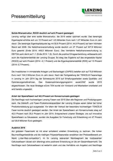 Lenzing Ergebnisse 2015, Seite 2/4, komplettes Dokument unter http://boerse-social.com/static/uploads/file_810_lenzing_ergebnisse_2015.pdf (23.03.2016)