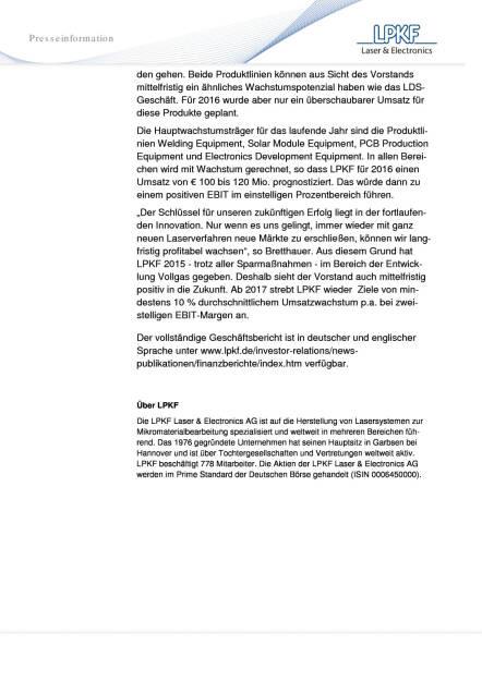 LPKF: Schwaches LDS-Geschäft belastet die Geschäftsentwicklung 2015, Seite 2/2, komplettes Dokument unter http://boerse-social.com/static/uploads/file_811_lpkf_schwaches_lds-geschaft_belastet_die_geschaftsentwicklung_2015.pdf (23.03.2016)