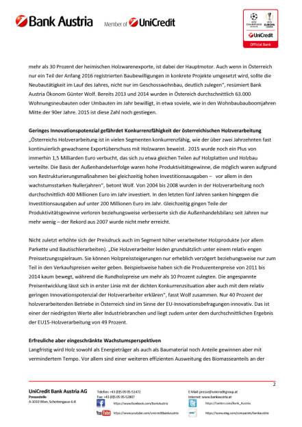 Bank Austria: Holzverarbeitung profitiert 2016 von steigenden Wohnbauinvestitionen, Seite 2/3, komplettes Dokument unter http://boerse-social.com/static/uploads/file_812_bank_austria_holzverarbeitung_profitiert_2016_von_steigenden_wohnbauinvestitionen.pdf (23.03.2016)