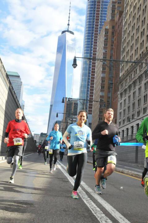 Monika Kalbacher beim NYC Halbmarathon, NYC Half
