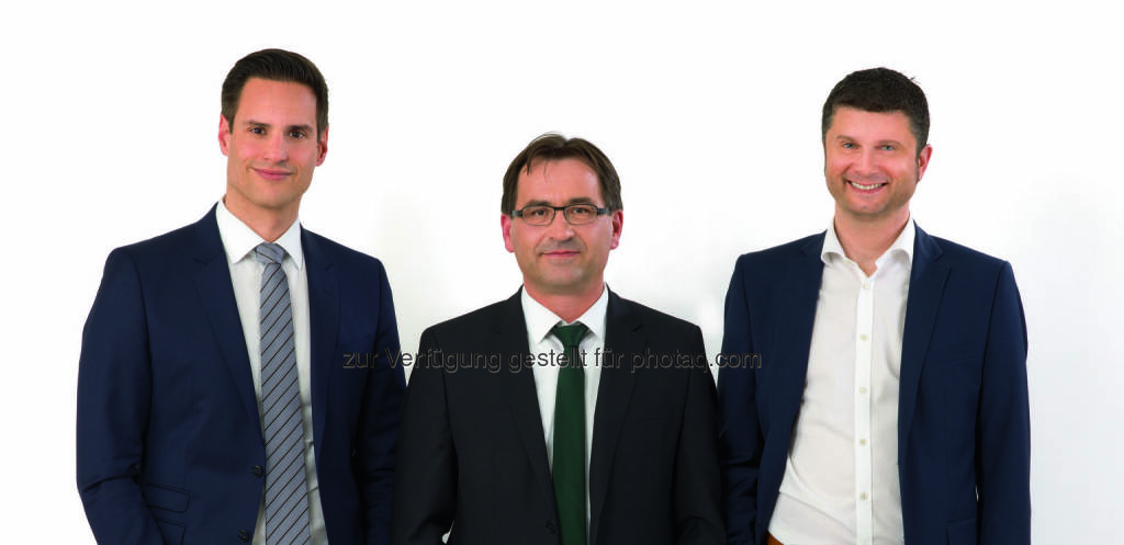 Thomas Csipkó, Andreas Labner, Thomas Grabner : Neue Geschäftsführung bei SIX Payment Services in Österreich : Fotocredit: SIX Payment Services (Austria) GmbH, © Aussendung (31.03.2016)