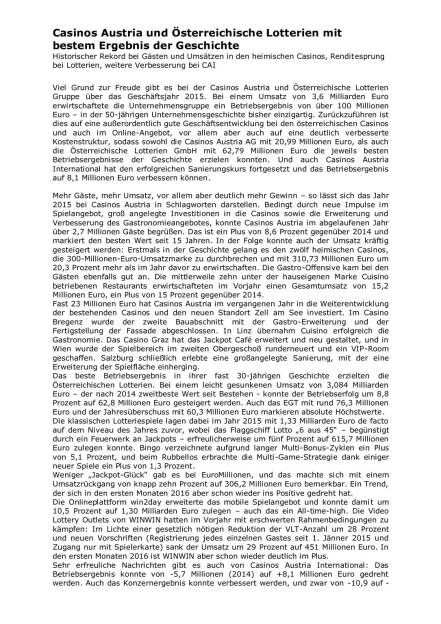 Casinos Austria und Österreichische Lotterien mit bestem Ergebnis der Geschichte, Seite 1/2, komplettes Dokument unter http://boerse-social.com/static/uploads/file_832_casinos_austria_und_osterreichische_lotterien_mit_bestem_ergebnis_der_geschichte.pdf (01.04.2016)