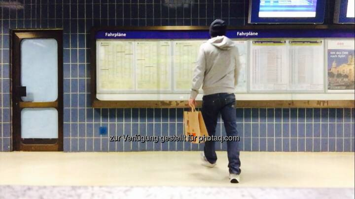 Nach Run Bahnhofs McDonalds