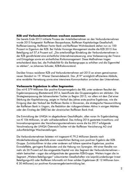 RZB-Gruppe erzielt respektables Konzernergebnis, Seite 2/5, komplettes Dokument unter http://boerse-social.com/static/uploads/file_847_rzb-gruppe_erzielt_respektables_konzernergebnis.pdf (05.04.2016)