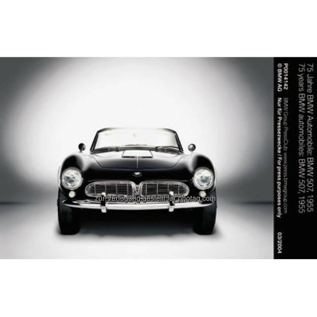 """BMW 507, 1955 : BMW ist erfolgreichste Marke beim """"Motor Klassik Award"""" 2016 : Leser des Fachmagazins """"Motor Klassik"""" küren den BMW 507 und den BMW M1 zu den herausragenden Automobilen ihrer jeweiligen Epoche : Fotocredit: © BMW Group, © Aussendung (06.04.2016)"""