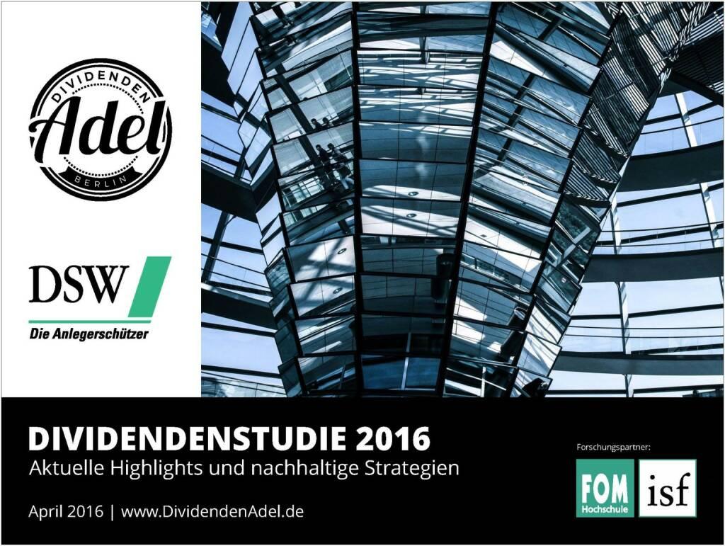 Dividendenstudie 2016, © Dividendenadel.de (06.04.2016)