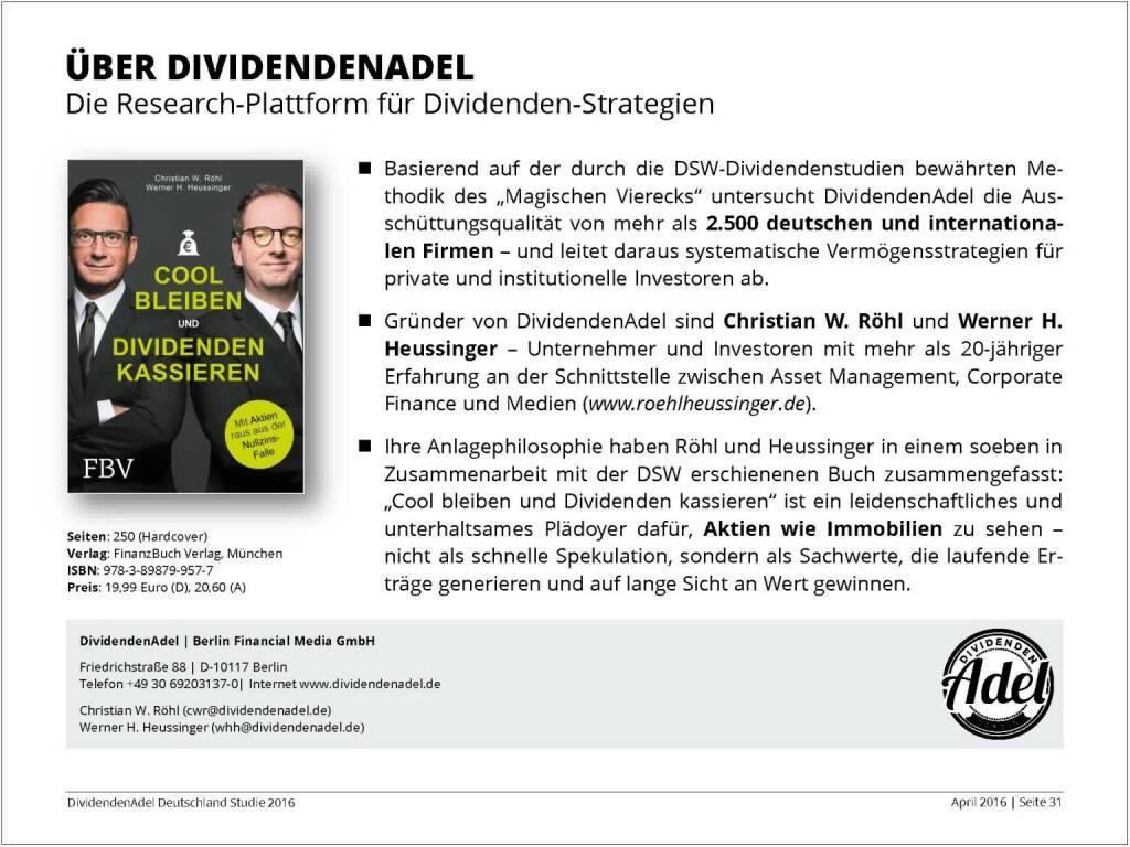 Dividendenstudie 2016: Über Dividendenadel, © Dividendenadel.de (06.04.2016)