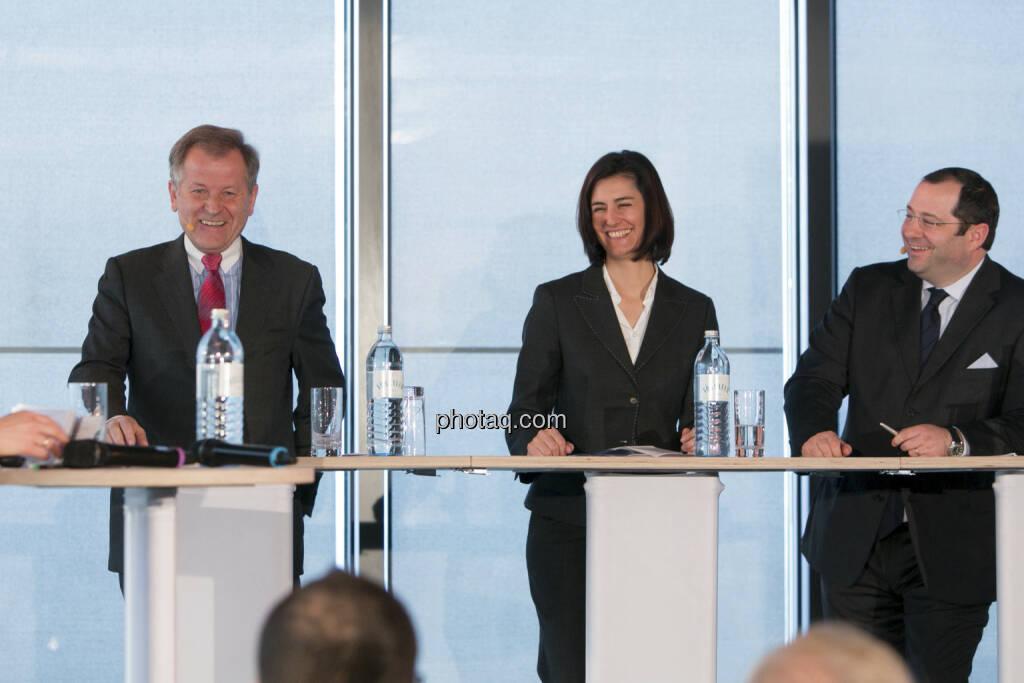 Eduard Zehetner (CEO Immofinanz), Birgit Noggler (CFO Immofinanz), Daniel Riedl (COO Immofinanz), http://privatanleger.immofinanz.com , © Martina Draper für Immofinanz (10.04.2013)