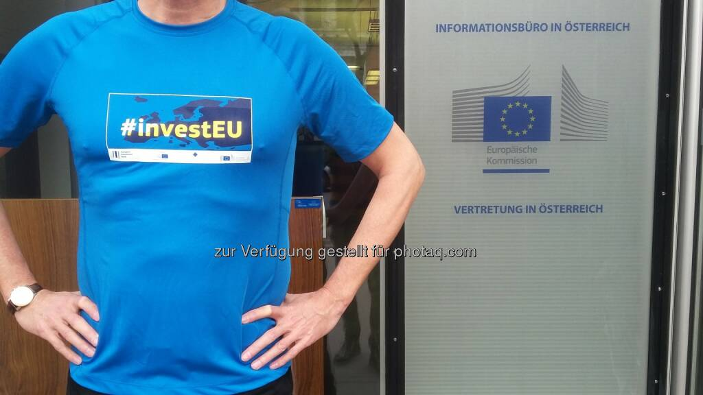In Europa investieren : Laufen für Europa : In Europa investieren wollen heuer mehrere Dutzend Läufer beim Vienna City Marathon : Fotocredit: Vertretung der Europäischen Kommission in Österreich, © Aussender (07.04.2016)