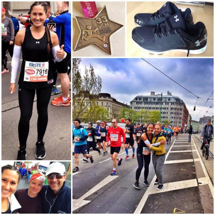 Monika Kalbacher beim VCM, Vienna City Marathon