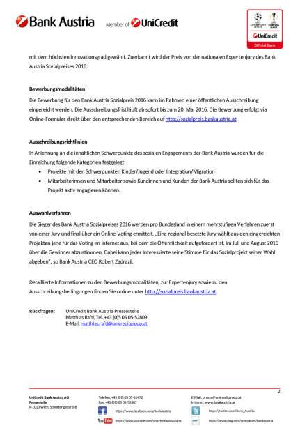 Ausschreibung Bank Austria Sozialpreis 2016: Bewerbungen für Sozialprojekte, Seite 2/2, komplettes Dokument unter http://boerse-social.com/static/uploads/file_864_ausschreibung_bank_austria_sozialpreis_2016_bewerbungen_fur_sozialprojekte.pdf (11.04.2016)