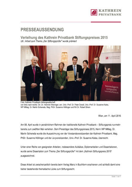Kathrein Privatbank Stiftungspreis 2015, Seite 1/2, komplettes Dokument unter http://boerse-social.com/static/uploads/file_866_kathrein_privatbank_stiftungspreis_2015.pdf (11.04.2016)