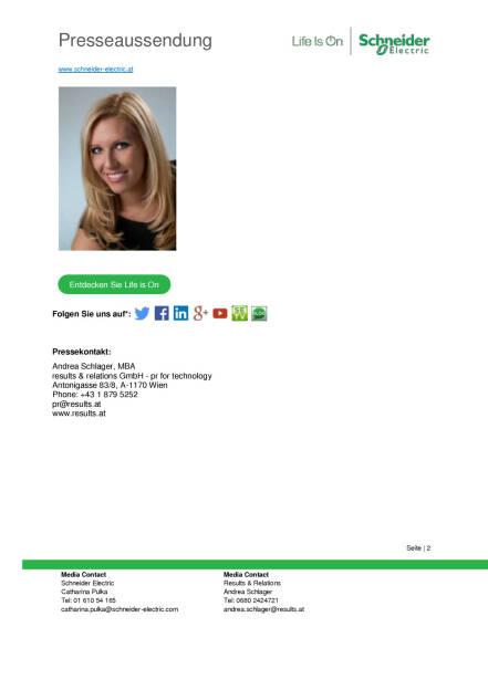 Schneider Electric: Catharina Pulka wird Director Marketing Communication Austria & Switzerland, Seite 2/2, komplettes Dokument unter http://boerse-social.com/static/uploads/file_909_schneider_electric_catharina_pulka_wird_director_marketing_communication_austria_switzerland.pdf (19.04.2016)