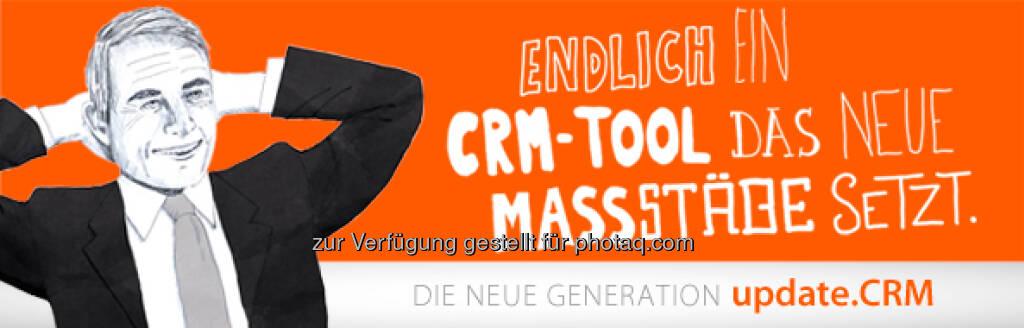 Die update Software AG bewirbt das neue CRM-Tool (12.04.2013)