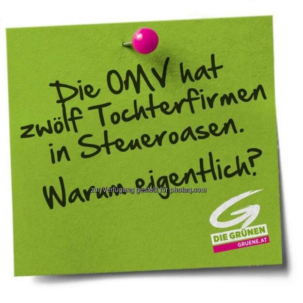 Die OMV hat zwölf Tochterfirmen in Steueroasen. Warum eigentlich? (Die Grünen) (12.04.2013)