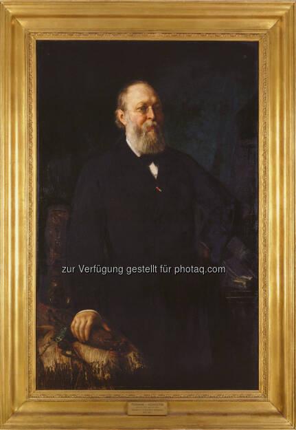 """Porträt Ferdinand von Hochstetter, Franz Rumpler: 1882 : """"Hochstetter Collection Basel"""" des ersten Intendanten Ferdinand von Hochstetter (1829-1884) geht an das Naturhistorische Museum Wien : Fotocredit: NHM Wien/Schumacher, © Aussendung (21.04.2016)"""