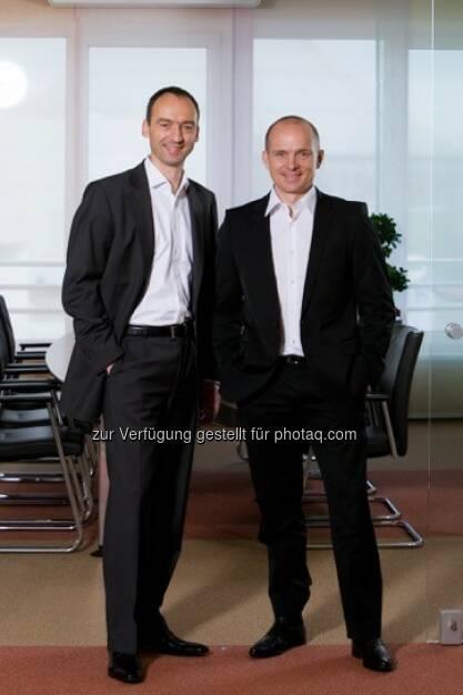Thomas Krohne, Karl Wieseneder verkaufen the sportsman media holding GmbH mit ihrem Kerngeschäft an Sportradar : Fotocredit: www.thesportsmanholding.com, © Aussendung (21.04.2016)
