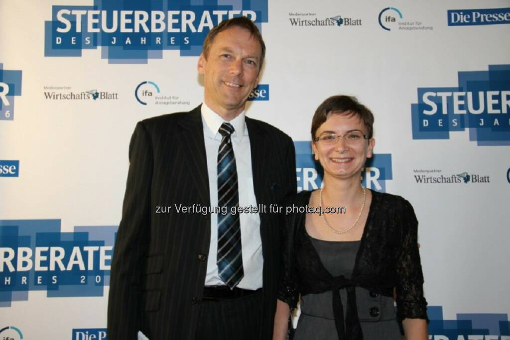 Manfred Leitinger, Sonja Eder : Steuerberater des Jahres 2016 : Prodinger Leitinger & Partner : Fotocredit: Prodinger Partner, © Aussendung (26.04.2016)