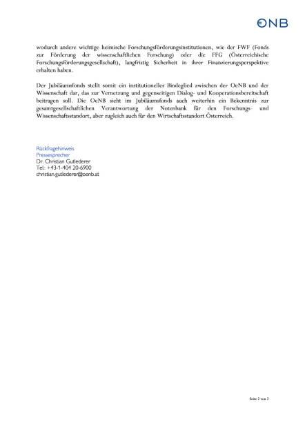 OeNB: Jubiläumsfonds begeht 50-jähriges Bestehen, Seite 2/2, komplettes Dokument unter http://boerse-social.com/static/uploads/file_948_oenb_jubilaumsfonds_begeht_50-jahriges_bestehen.pdf (26.04.2016)