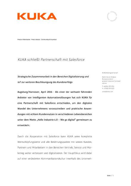 Kuka schließt Partnerschaft mit Salesforce, Seite 1/3, komplettes Dokument unter http://boerse-social.com/static/uploads/file_952_kuka_schliesst_partnerschaft_mit_salesforce.pdf (26.04.2016)