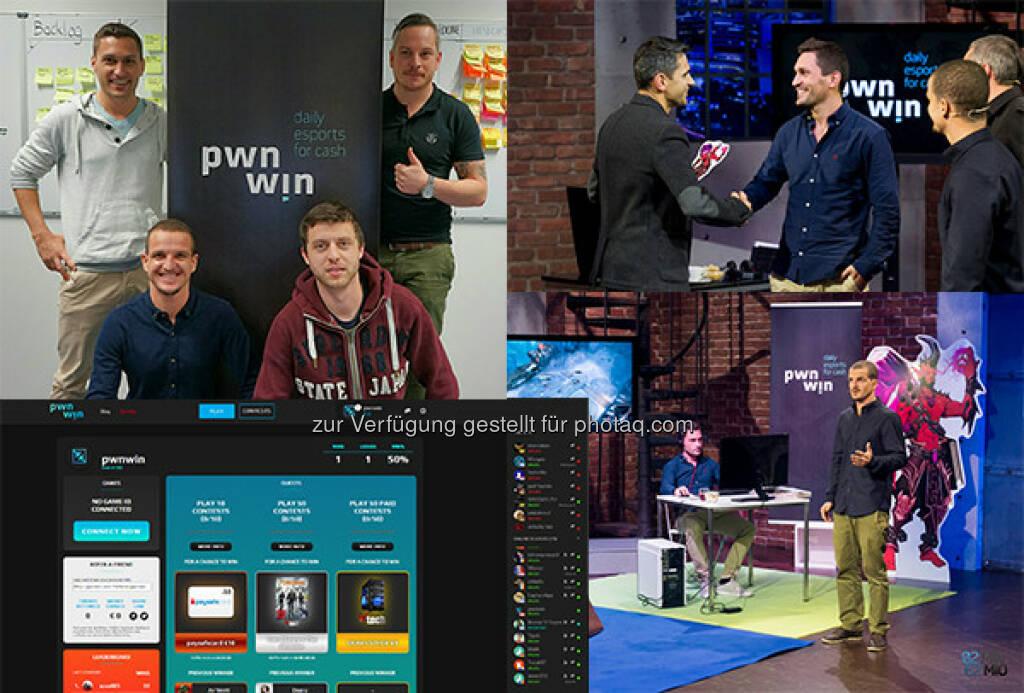 """Gründer pwnwin : """"2 Minuten, 2 Millionen"""": pwnwin holt Michael Altrichter, startup300 und Martin Global AG an Bord : Fotocredit: pwnwin (c) Puls4 Gerry Frank, © Aussendung (27.04.2016)"""