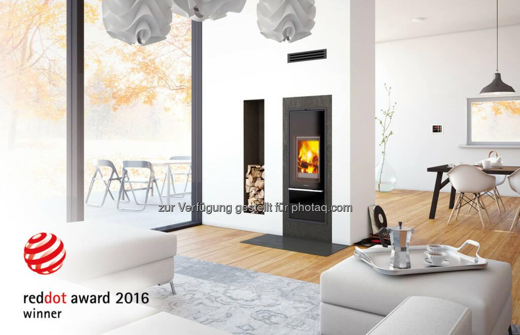 Schiedel Kingfire Lineare : Oberösterreichisches Traditionsunternehmen Schiedel : Red Dot Award und Plus X Award für innovatives Ofensystem Kingfire® : Fotocredit: Schiedel GmbH, © Aussendung (28.04.2016)