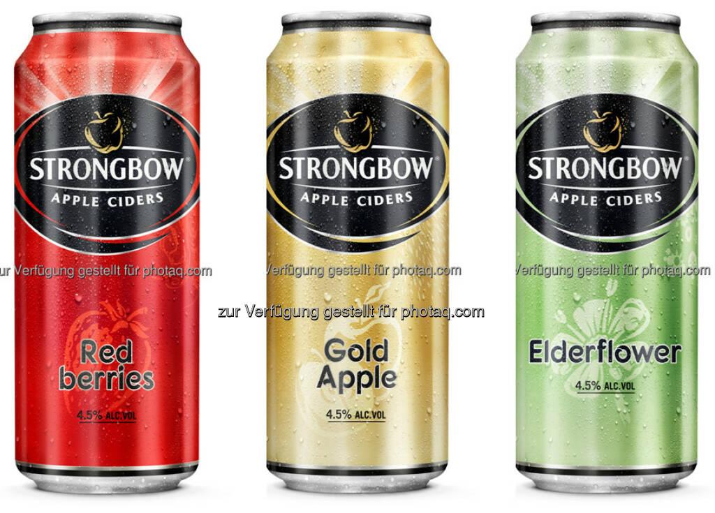 Strongbow Apple Ciders : Strongbow jetzt auch in der 0,4 Liter-Dose : Fotocredit: Brau Union Österreich, © Aussender (02.05.2016)