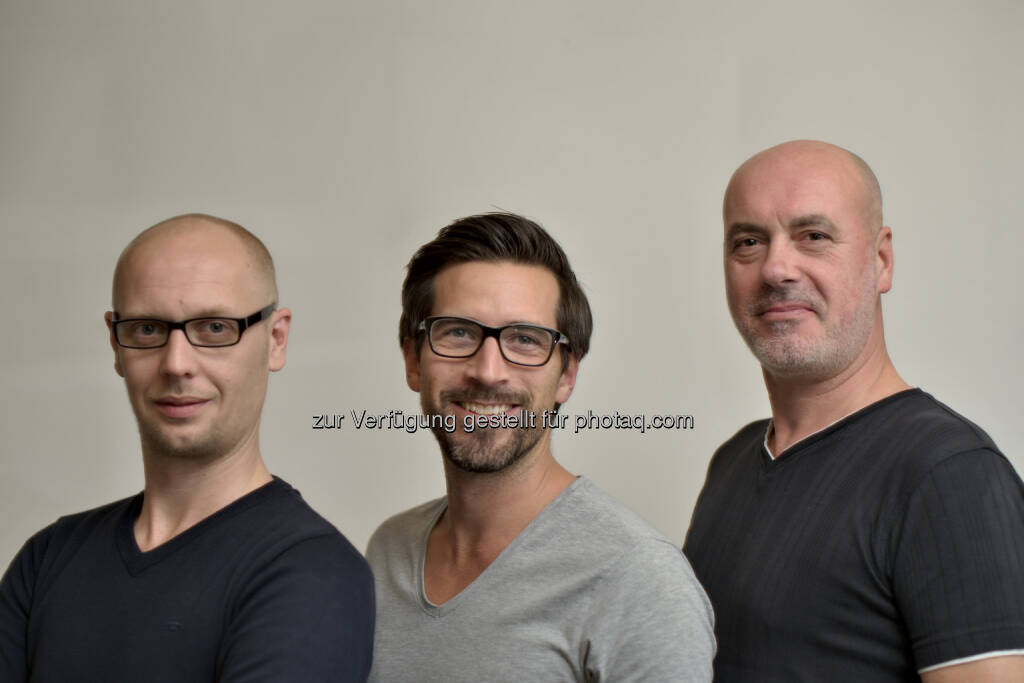 Sinisa Zobic, Thomas Aigner, Richard Haller : Österreichisches Start-up Sportvideos365 sichert sich Kapitalerhöhung für Internationalisierung : Fotocredit: Eye-Open, © Aussendung (02.05.2016)