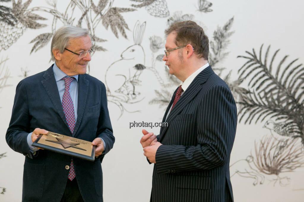 Wolfgang Schüssel, Gregor Rosinger (Rosinger Group), © Martina Draper/photaq (02.05.2016)