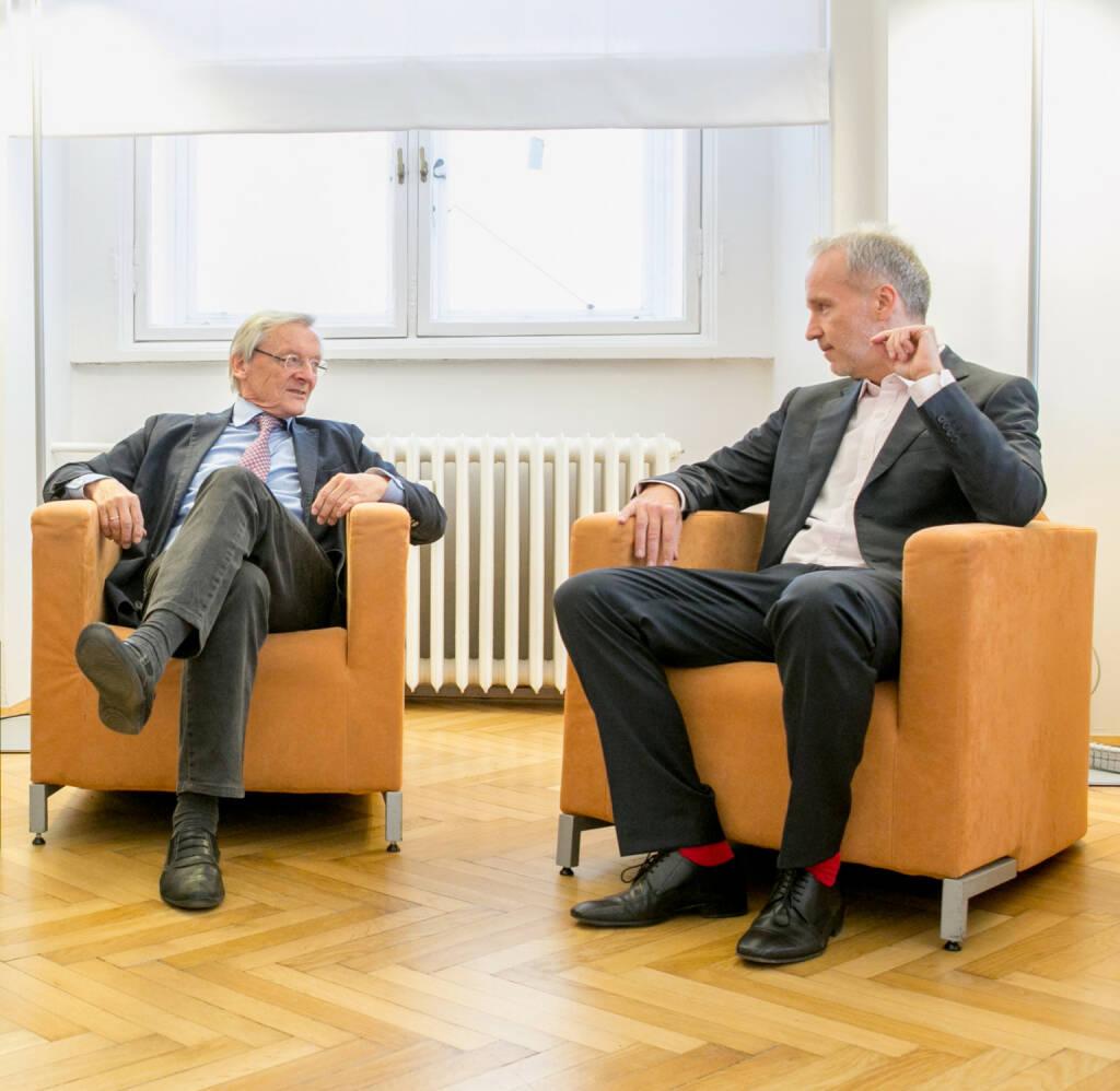 Beim Hintergrundplausch mit Wolfgang Schüssel (c) Martina Draper (03.05.2016)