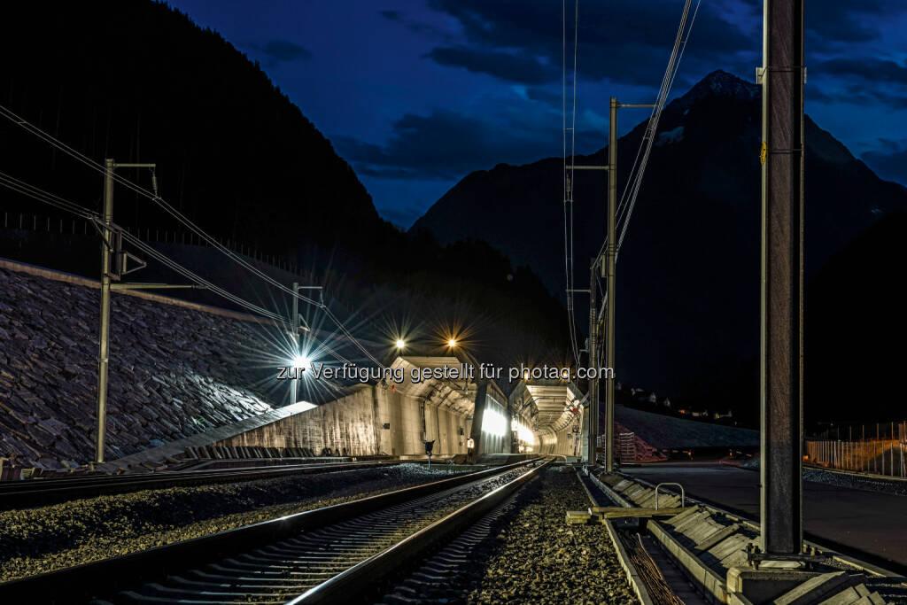 Nordportal, Erstfeld, Zentralschweiz : Vor Inbetriebnahme des Gotthard-Basistunnels exklusive Erkundungsreise in den längsten Eisenbahntunnel der Welt inklusive Ausstieg : Fotocredit: © Alp Transit Gotthard AG, 2014/ Maurus Huwyler, © Aussender (03.05.2016)