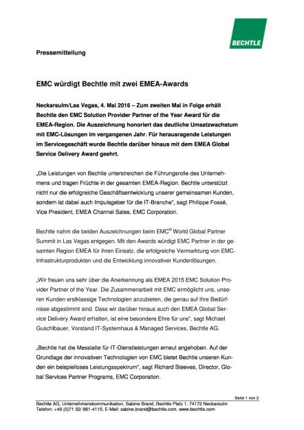 Bechtle: EMC Solution Provider Partner of the Year Award, Seite 1/2, komplettes Dokument unter http://boerse-social.com/static/uploads/file_1013_bechtle_emc_solution_provider_partner_of_the_year_award.pdf (04.05.2016)
