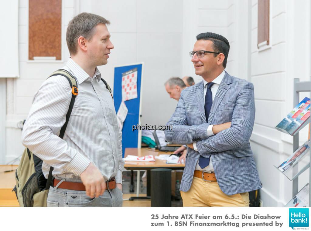Thomas Böttcher (B2MS GmbH), Christian Röhl (DividendenAdel), © Martina Draper/photaq (07.05.2016)